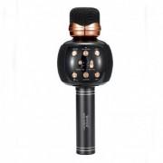 Беспроводной микрофон караоке - WSTER WS-2911 Bluetooth динамик USB Чёрный NEW STYLE