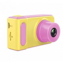Детский цифровой фотоаппарат Smart Kids Camera V7 ( 46597) Желто-Розовый NEW DESIGN