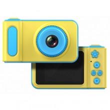 Детский цифровой фотоаппарат Smart Kids Camera V7 (46643) Желто - cиний NEW DESIGN