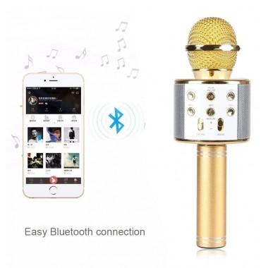 Караоке микрофон UKC Беспроводной с динамиком 2 в 1 Bluetooth WS-858 Plus NEW